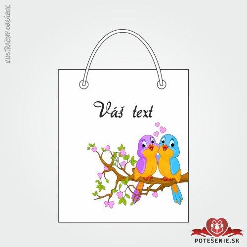 Taška na darček pre svadobných hostí, motív T111
