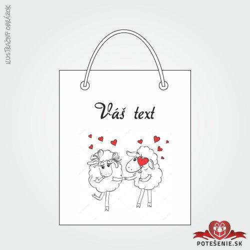 Taška na darček pre svadobných hostí, motív T112
