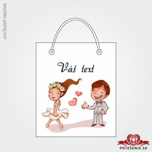 Taška na darček pre svadobných hostí, motív T114