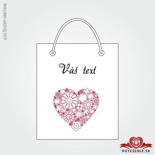 Taška na darček pre svadobných hostí, motív T115