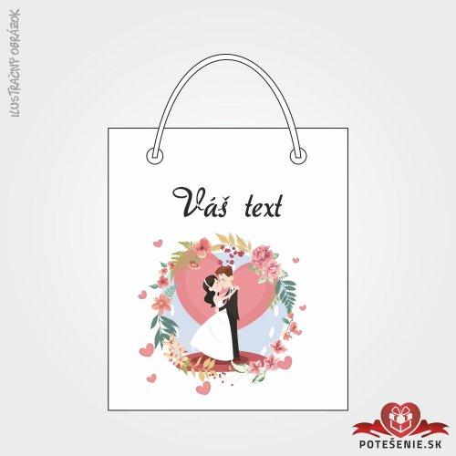 Taška na darček pre svadobných hostí, motív T117