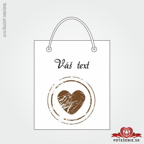 Taška na darček pre svadobných hostí, motív T118