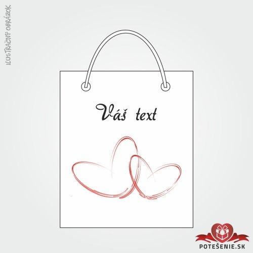Taška na darček pre svadobných hostí, motív T119
