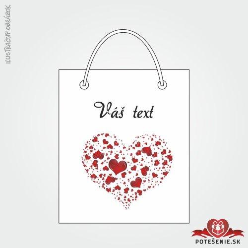 Taška na darček pre svadobných hostí, motív T121