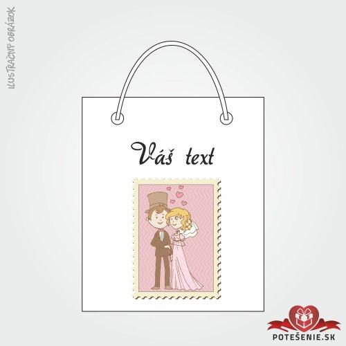 Taška na darček pre svadobných hostí, motív T124