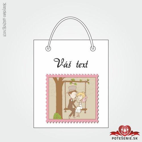 Taška na darček pre svadobných hostí, motív T125
