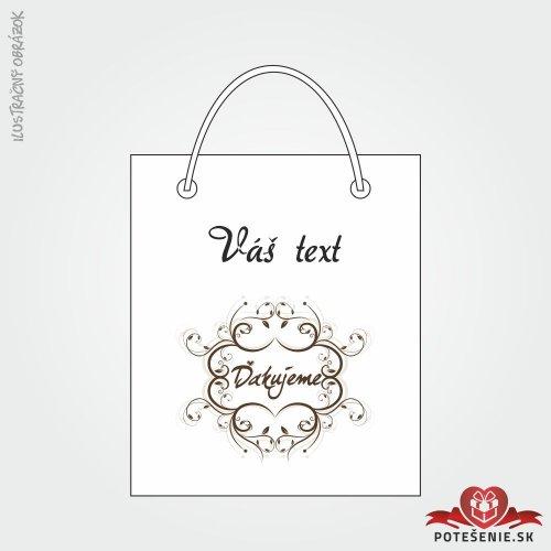 Taška na darček pre svadobných hostí, motív T126