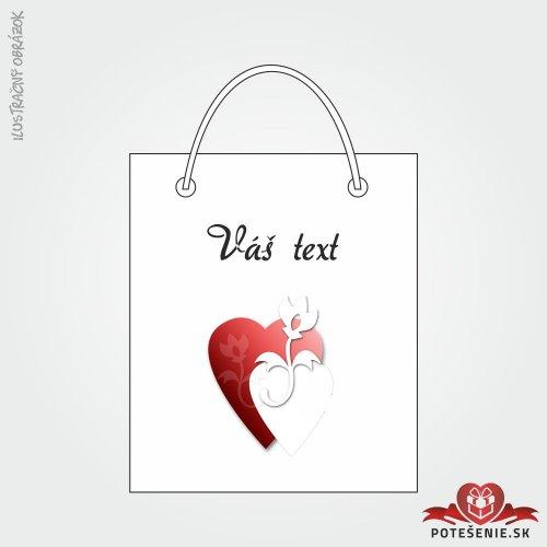Taška na darček pre svadobných hostí, motív T128