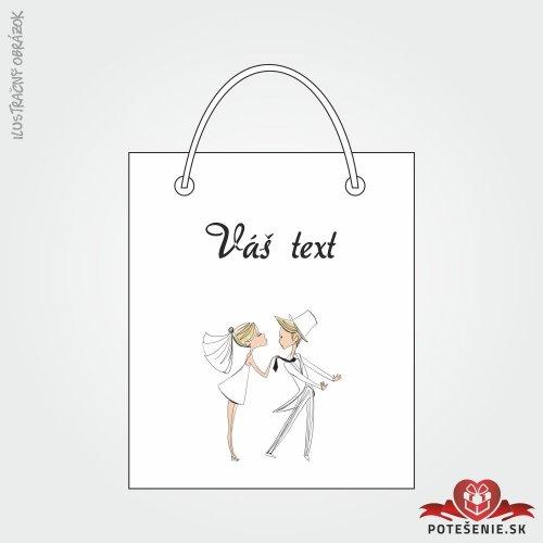 Taška na darček pre svadobných hostí, motív T130