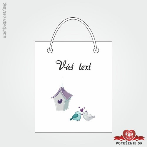 Taška na darček pre svadobných hostí, motív T131