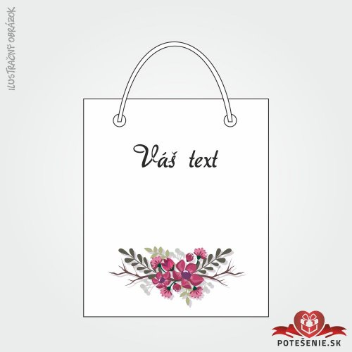 Taška na darček pre svadobných hostí, motív T133