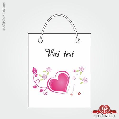 Taška na darček pre svadobných hostí, motív T134