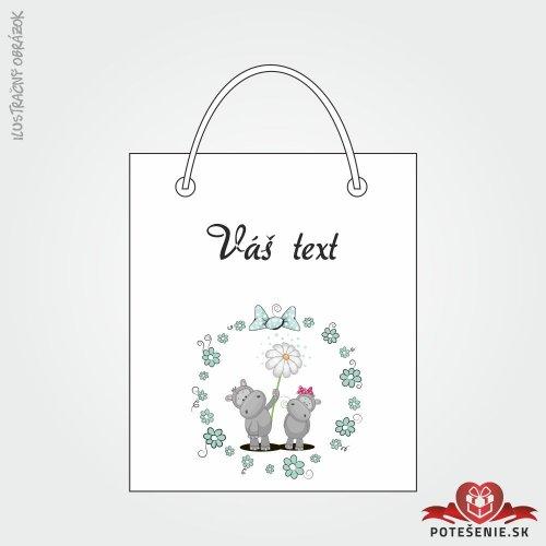 Taška na darček pre svadobných hostí, motív T135