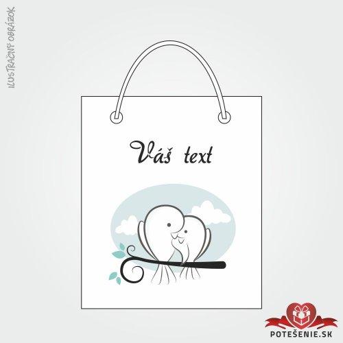 Taška na darček pre svadobných hostí, motív T136