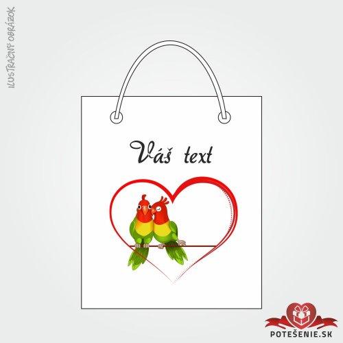 Taška na darček pre svadobných hostí, motív T138