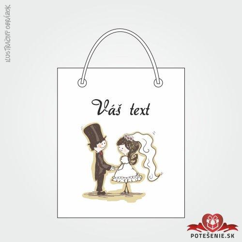 Taška na darček pre svadobných hostí, motív T141