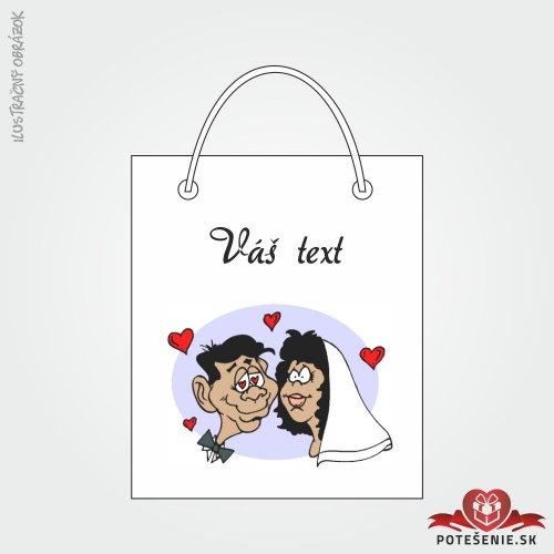 Taška na darček pre svadobných hostí, motív T142