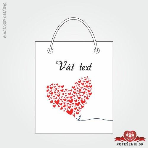 Taška na darček pre svadobných hostí, motív T143