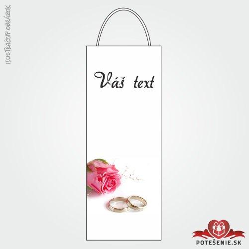 Taška na víno pre svadobných hostí, motív T011