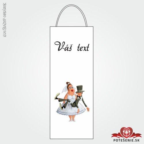 Taška na víno pre svadobných hostí, motív T103