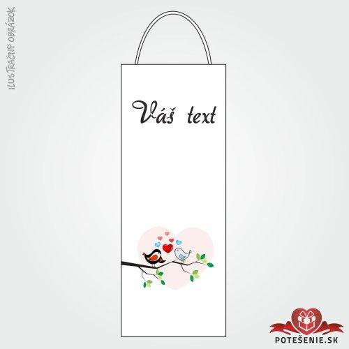 Taška na víno pre svadobných hostí, motív T106