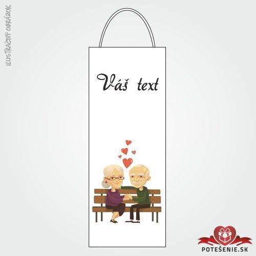 Taška na víno pre svadobných hostí, motív T112