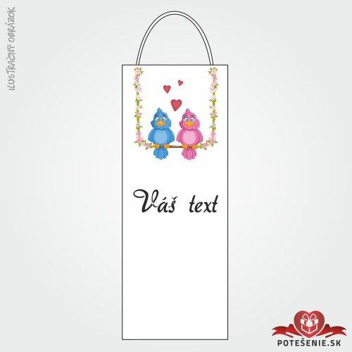 Taška na víno pre svadobných hostí, motív T114