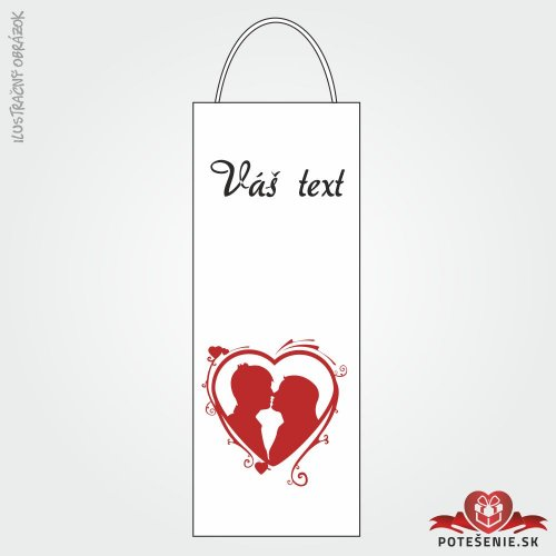 Taška na víno pre svadobných hostí, motív T115