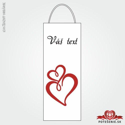 Taška na víno pre svadobných hostí, motív T117