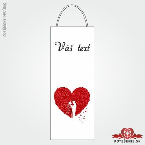 Taška na víno pre svadobných hostí, motív T118