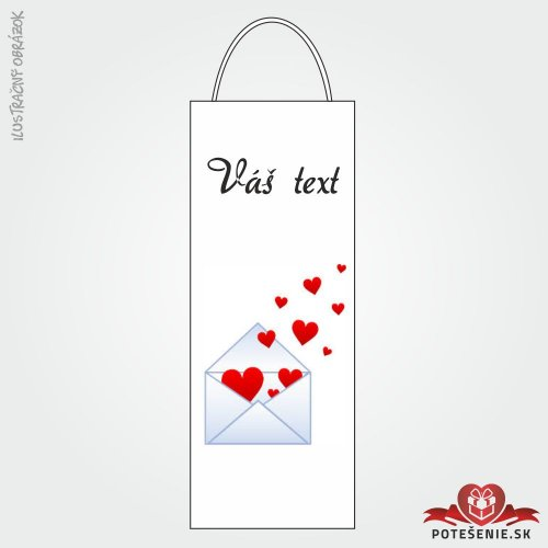 Taška na víno pre svadobných hostí, motív T121