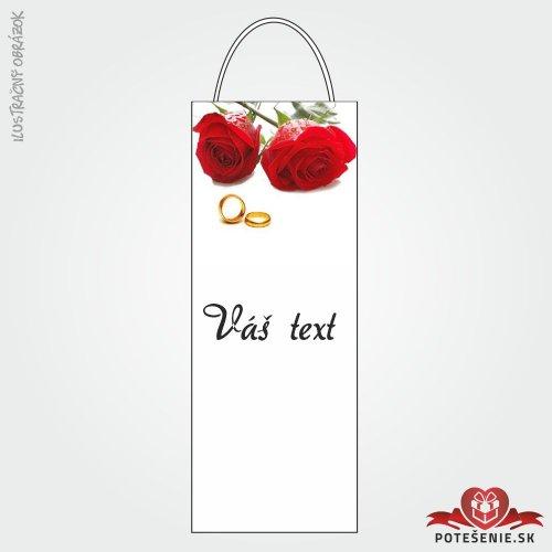 Taška na víno pre svadobných hostí, motív T122
