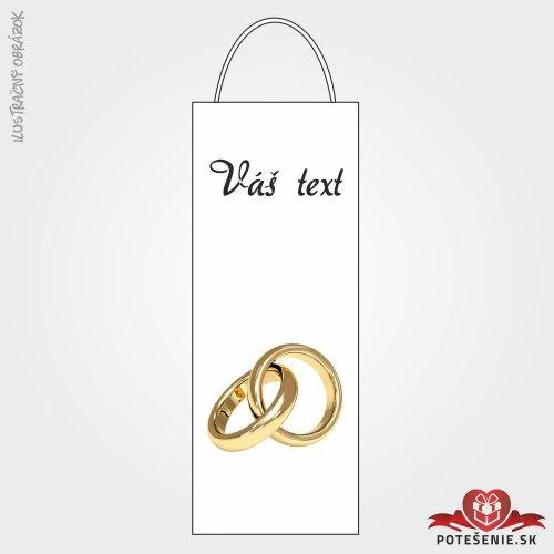 Taška na víno pre svadobných hostí, motív T123