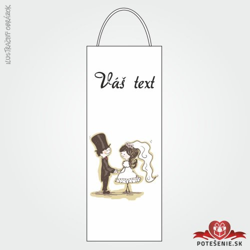 Taška na víno pre svadobných hostí, motív T126