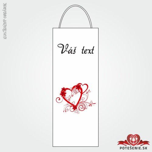 Taška na víno pre svadobných hostí, motív T128