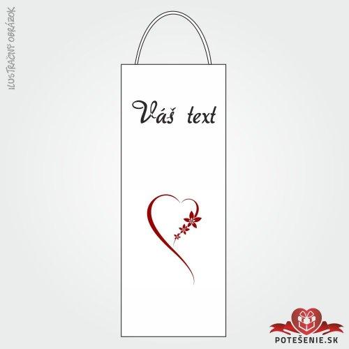 Taška na víno pre svadobných hostí, motív T130 - Svadobná taška na víno