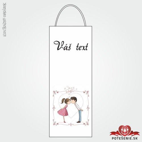 Taška na víno pre svadobných hostí, motív T132