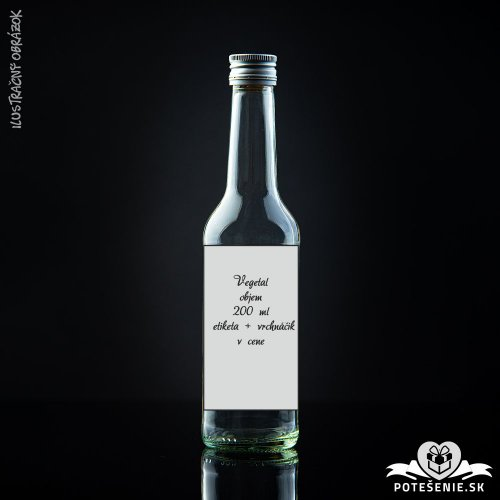 Prázdna svadobná fľaša Vegetal Silver 200 ml