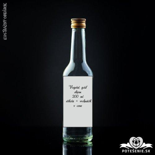 Prázdna svadobná fľaša Vegetal Gold 200 ml