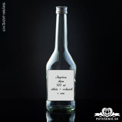 Prázdna svadobná fľaša Napoleon Silver 500 ml