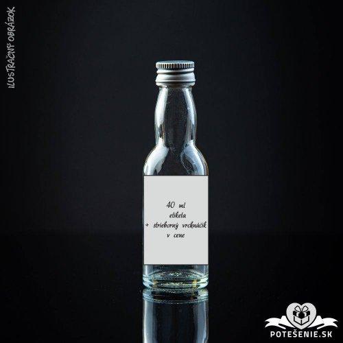 Prázdna svadobná mini fľaštička Silver 40 ml
