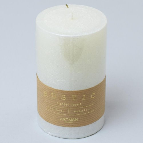 Rustic vianočná sviečka valec 7x14 perla