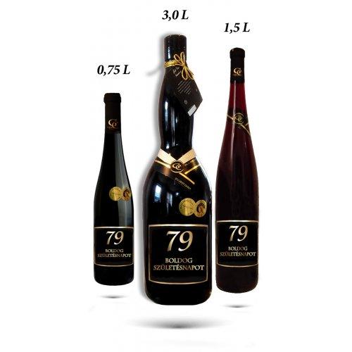 Ajándék palack - Boldog születésnapot (életkorral 0-99 év között) 0,75L