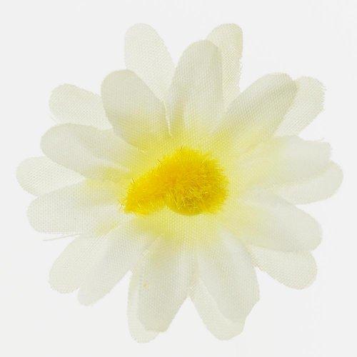 Umelý kvet hlava biela 4cm
