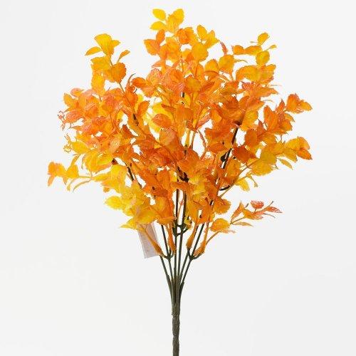 Zeleň mini lístky oranžová 36cm