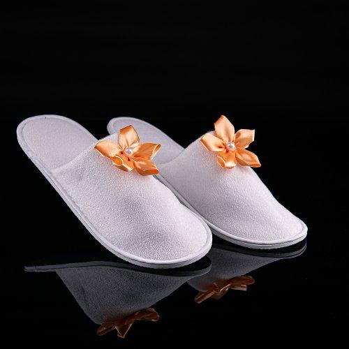 Svadobné papuče s mašličkou / kvietkom, motív S029