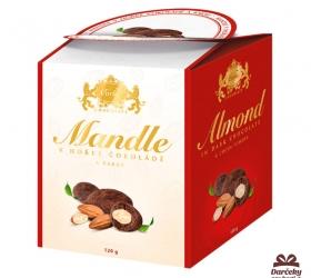 Mandle v horkej čokoláde a kakau v darčekovom balení