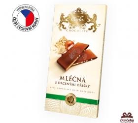 Mliečna čokoláda s lieskovými orieškami