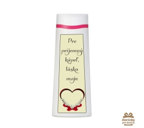 Vtipný sprchový gél  - pre príjemný kúpeľ, láska