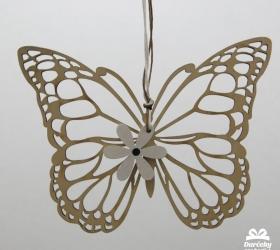 Dekoračný predmet - Motýľ s kvietok